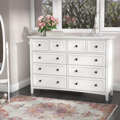 Allenville 8 Drawer Dresser Color: White