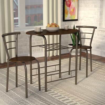 Alejandra 3 Piece Dining Set Finish: Brown
