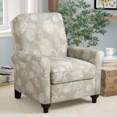 Gilland Push Back Recliner Upholstery: Taupe Floral