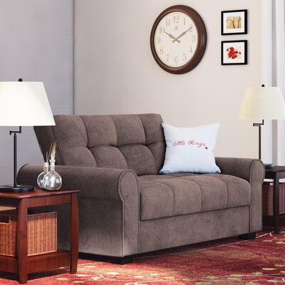 Rubin Click Clack Loveseat Upholstery: Light Brown