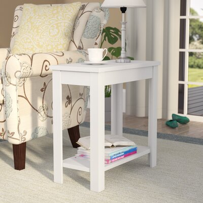 Lockheart End Table Color: White
