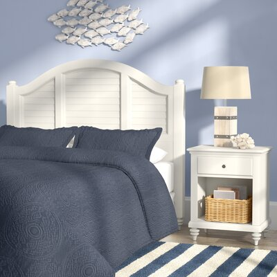Joel Panel 2 Piece Bedroom Set Color: Brushed White, Size: Queen