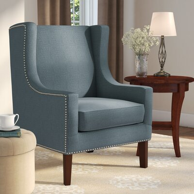 Agnes Wingback Chair Upholstery: Slate Blue