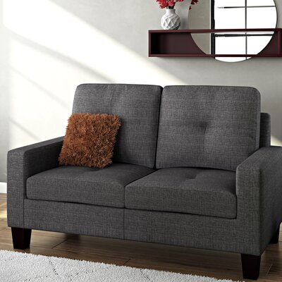 Winefred Loveseat Upholstery: Gray