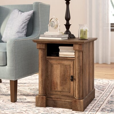Henley End Table With Storage� Color: Vintage Oak