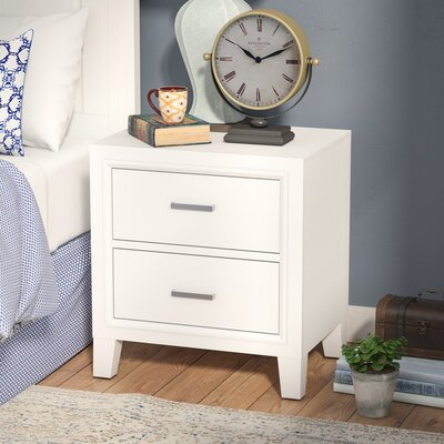 Hoytville 2 Drawer Nightstand Color: White