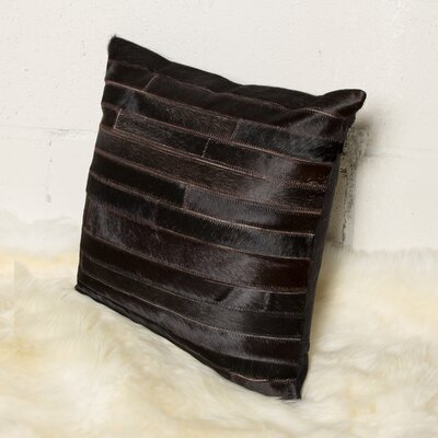 Graham Throw Pillow Color: Chocolate