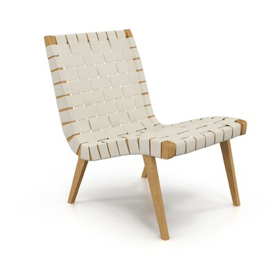 Brookline Lounge Chair Upholstery: White