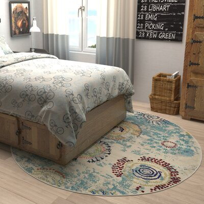 Aquarius Blue Area Rug Rug Size: Runner 22 x 66