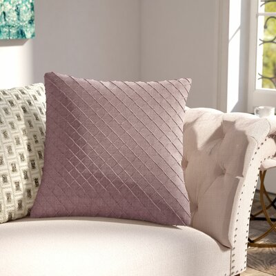 Thurston Linen Pillow Cover Size: 18 H x 18 W x 0.25 D, Color: Purple