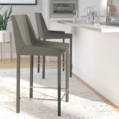 Walter 26 Bar Stool (Set of 2) Color: Cappuccino