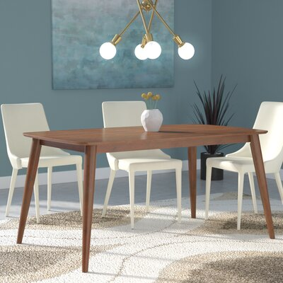 Chastain 60 Wood Dining Table Finish: Dark Walnut