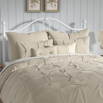 Ella Comforter Set Size: Queen, Color: Sand