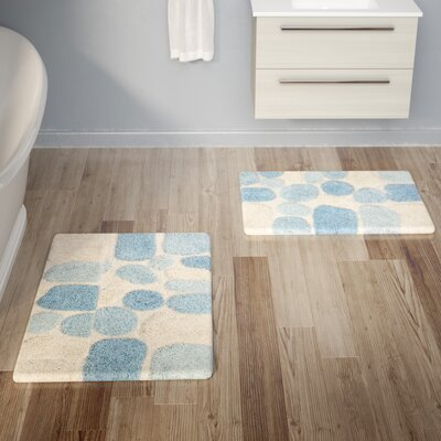 Knights 2 Piece Bath Rug Set Color: Blue