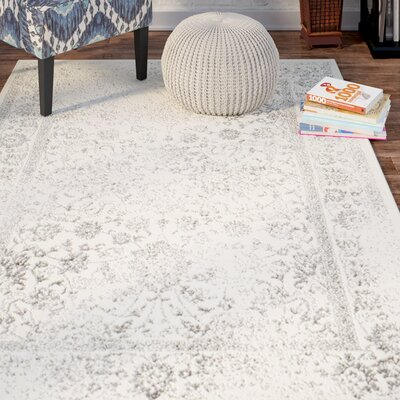 Norwell Gray/Beige Area Rug Rug Size: 10 x 14