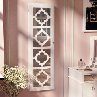 Harlesden Jewelry Armoire with Mirror Finish: White