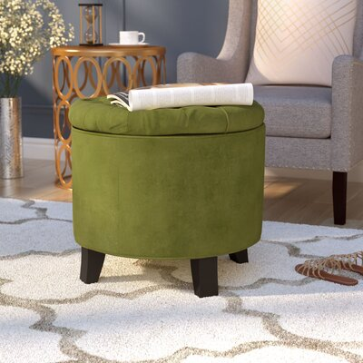 Hargrave Tufted Storage Ottoman Upholstery: Fern