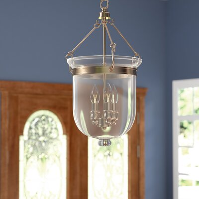 Lauder Foyer Pendant Size: 20 H x 10 W x 10 D, Finish: Antique Brass