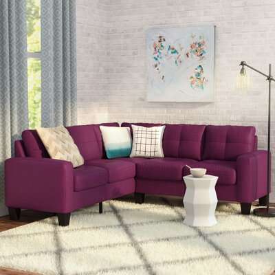 Tiff Reversible Sectional Upholstery: Berry