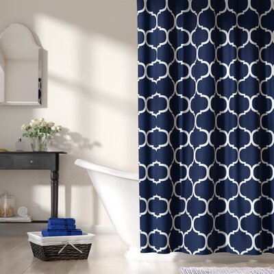 Betton Shower Curtain Color: Navy