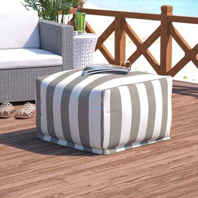 Dazelle Stripe Ottoman Color: Gray