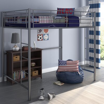 Maurice Full Loft Bed Color: Silver