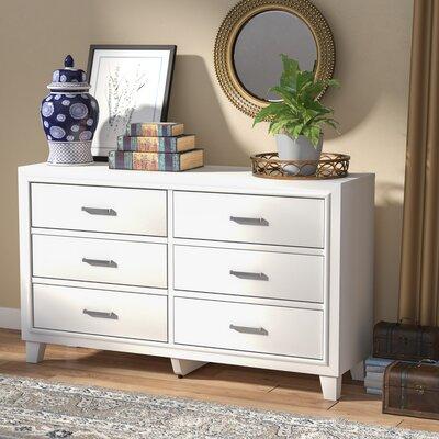 Hoytville 6 Drawer Dresser Color: White