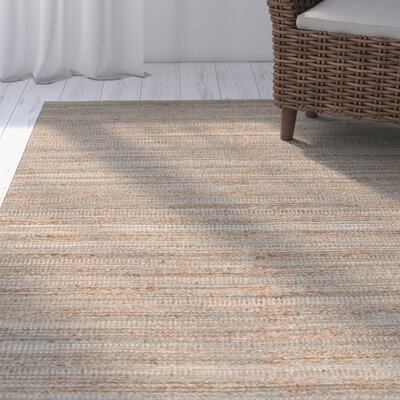 Ina Hand-Woven Taupe/Beige Area Rug Rug Size: 26 X 9