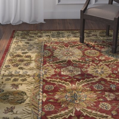 Bassham Red Area Rug Rug Size: Runner 24 x 8