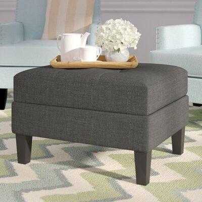 Burgess Storage Ottoman Upholstery : Dark Gray