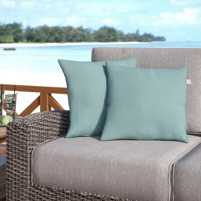 Livia Spa Outdoor Sunbrella Throw Pillow Size: 18 H x 18 W x 6 D