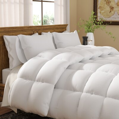 Abita Luxurious Premier Quality Down Alternative Comforter Color: White, Size: Full / Queen