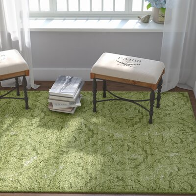 Carolyn Light Green Area Rug Rug Size: Rectangle 5 x 8