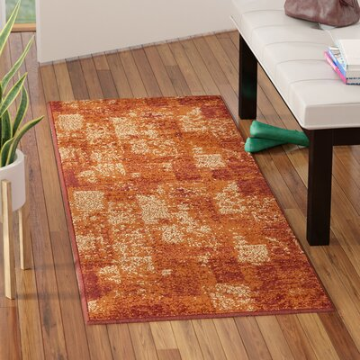 Bryan Stain-resistant Terracotta Area Rug Rug Size: 8 x 10