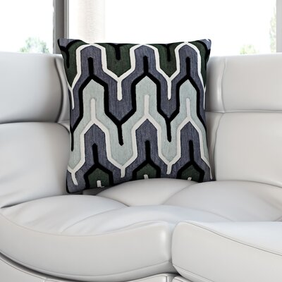 Chew Stoke 100% Cotton Throw Pillow Size: 22 H x 22 W, Color: Gray, Filler: Polyester