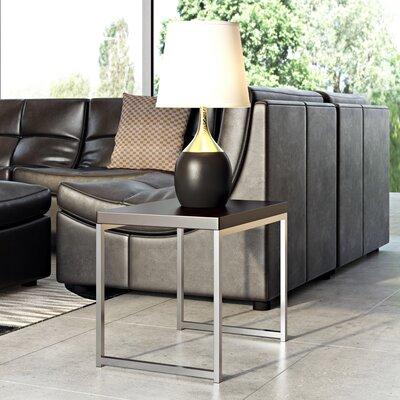 Bond End Table Color: Chrome / Espresso