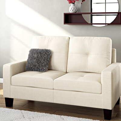 Winefred Loveseat Upholstery: Camel