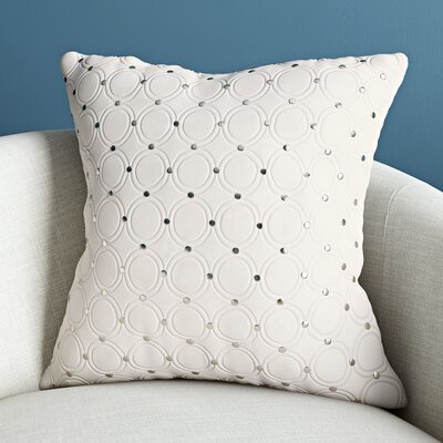 Wessex Luxury Cotton Throw Pillow Color: Ivory