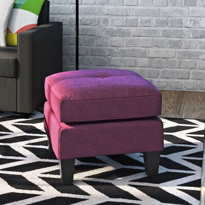 Tiff Solid Ottoman Color: Berry