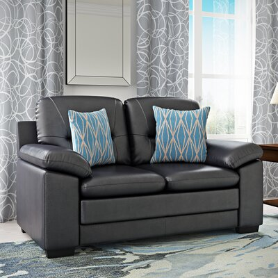 Brentry Loveseat Upholstery: Black