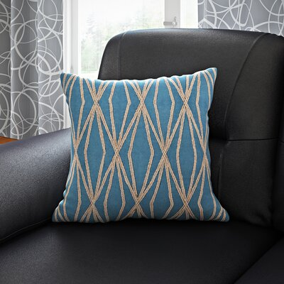 Jamal 100% Cotton Throw Pillow Cover Size: 18 H x 18 W x 0.25 D, Color: BlueBrown