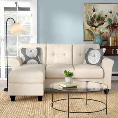 Desales Reversible Sectional Upholstery: Oscar Linen