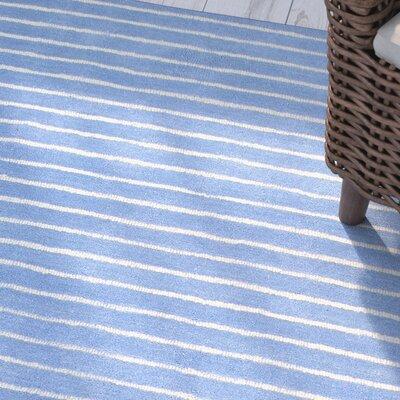 Huslia Blue Area Rug Rug Size: 36 x 56