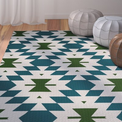 Soluri Teal Indoor/Outdoor Area Rug Rug Size: 4 x 6