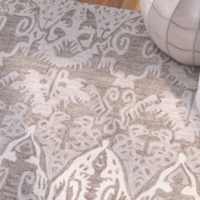Allen Hand-Tufted Gray Area Rug Rug Size: Rectangle 36 x 56