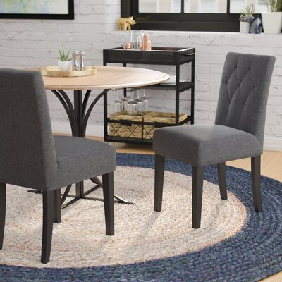 Balas Upholstered Dining Side Chair Upholstery: Dark Gray