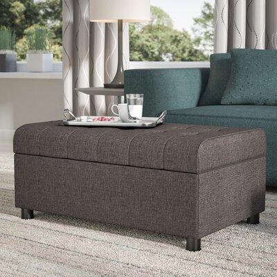 Littrell Storage Ottoman Upholstery: Gray Linen