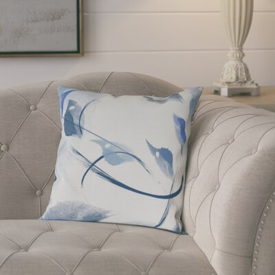 Roscoe Windy Floral Throw Pillow Size: 26 H x 26 W, Color: Navy Blue