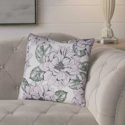 Lyda Square Throw Pillow Size: 18 H x 18 W x 4 D, Color: Lilac