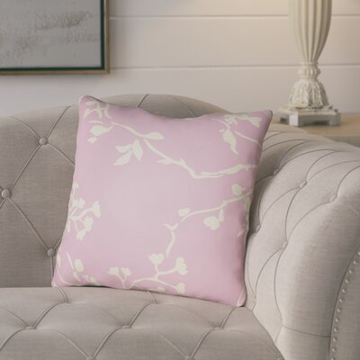 Teena Throw Pillow Size: 18 H x 18 W x 4 D, Color: Pink
